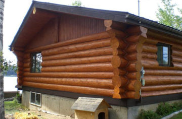Log home restoration project 1 after
