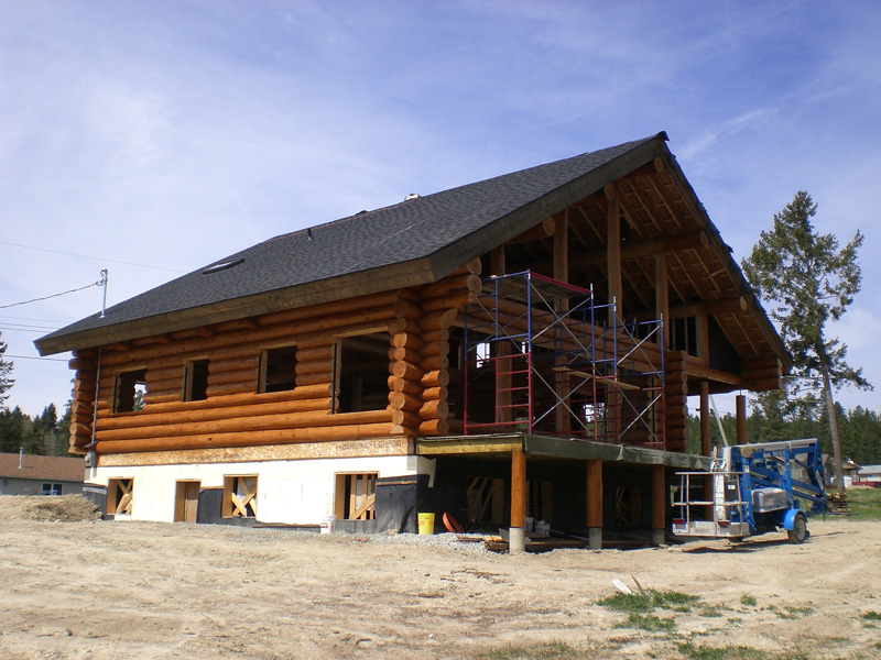 Log home restoration project 2 after